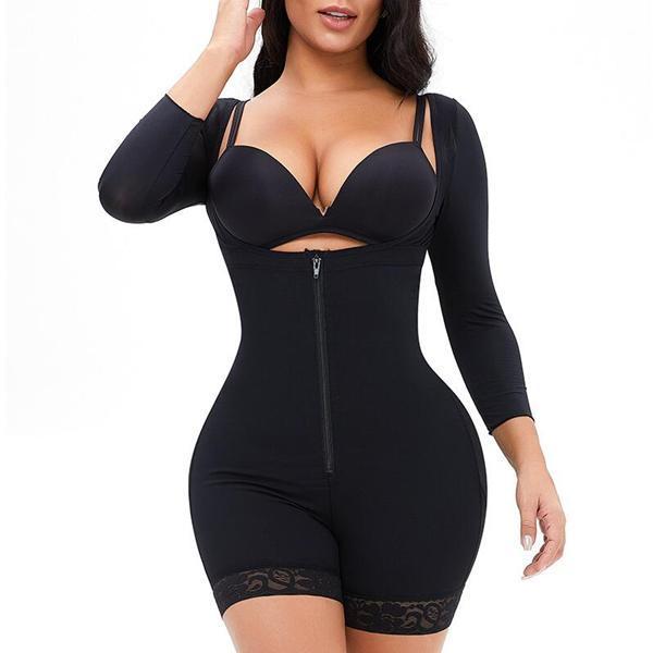 New Fashion Plus Size Long Sleeve Shapewear Bodysuit