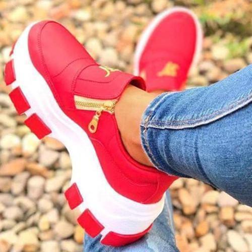 Women All Season Zipper Design Sneakers