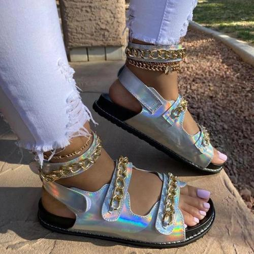 Cool Metal Chain Daily Sandals