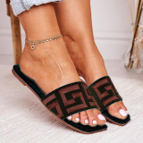 Patterned Flat Casual Slippers