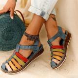 Buckle Wedge Sandals