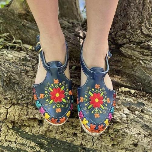 Flower Buckle Sandals