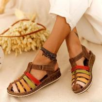 Buckle Wedge Sandals