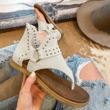 Women's Fashion Studded Western Thong Sandals