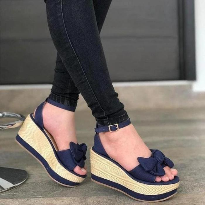 Ladies Stylish And Comfortable Bow Sandals