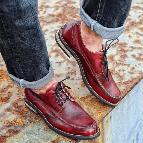 Men's High-quality Temperament British Style Low-top Leather Shoes
