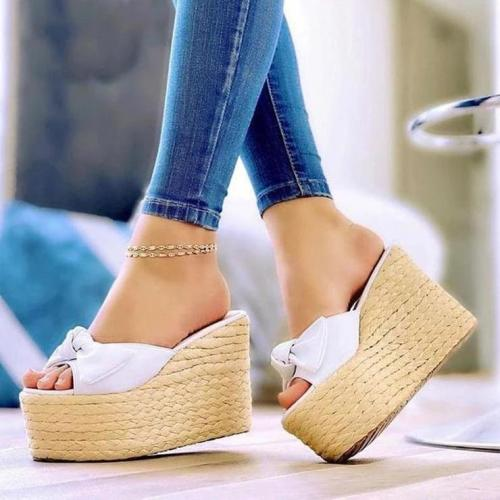 Fashion Platform Bow Open Toe Sandals