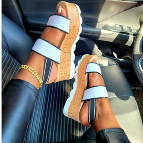 Comfy Sole Platform Heel Sandals