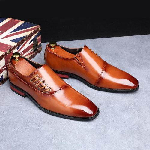 Men's High-quality Temperament Low-top Leather Shoes