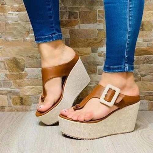 Platform Flip Flops Sandals