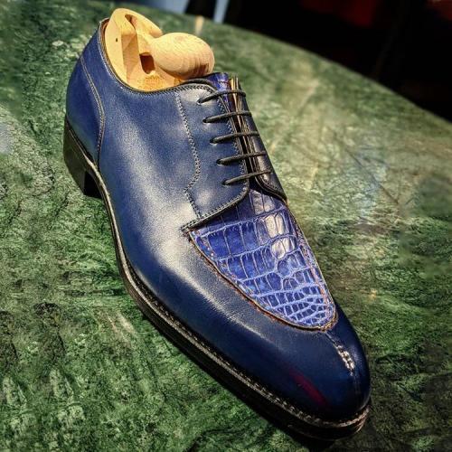 Splicing Alligator Oxford Shoes
