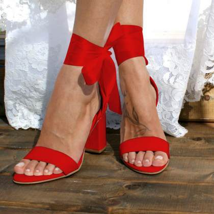 Womens Fashion Ankle Strap High Heel Sandals