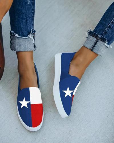 Women's Comfy Red Star Slip-On Sneaker