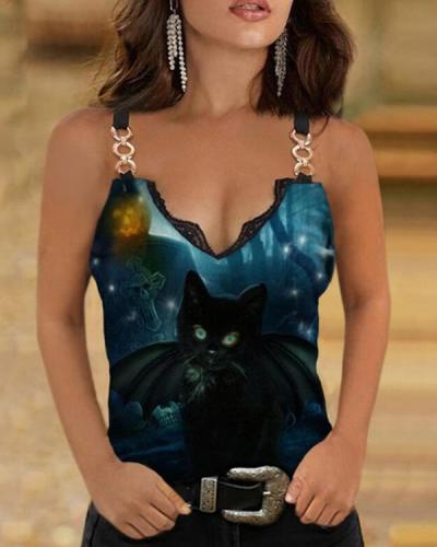 Animal Print Sexy Vest Designer