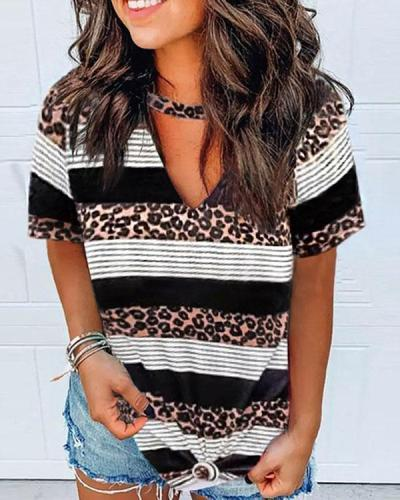 Women's Casual Leopard Printed Blouses
