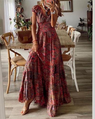 Fashion Printed Bohemian Dress