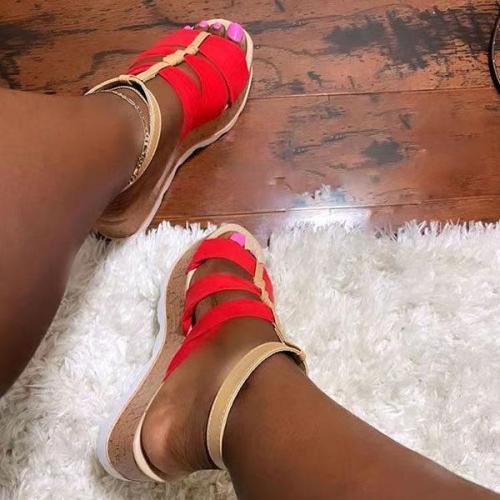 Women's Fashionously Patterned Hollow Platform Sandals