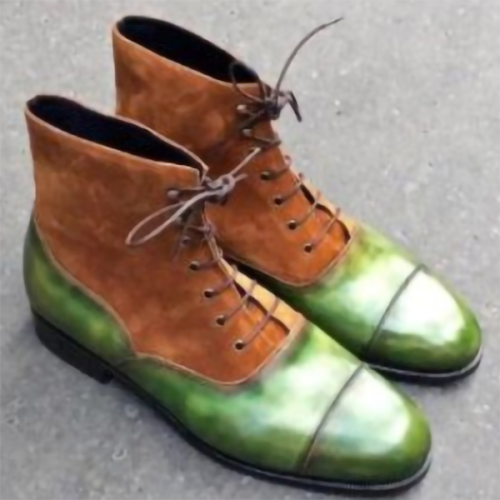 Simple Fashion Color Matching Martin Boots Men's Short Boots
