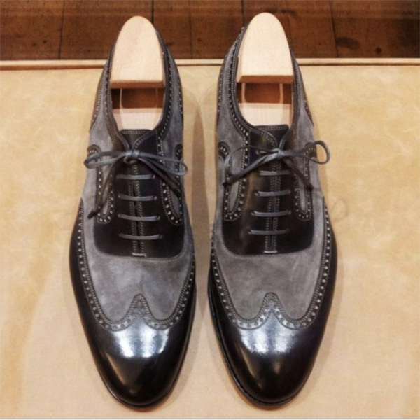 Men's New Low-heel Color Matching Business Trendy Shoes