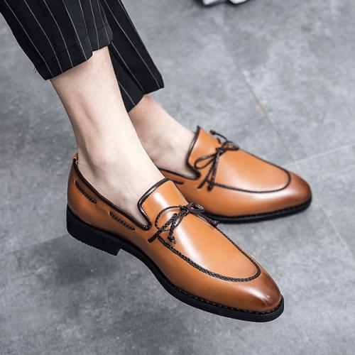 Men's Formal Business Fashion Color Polishing Shoes