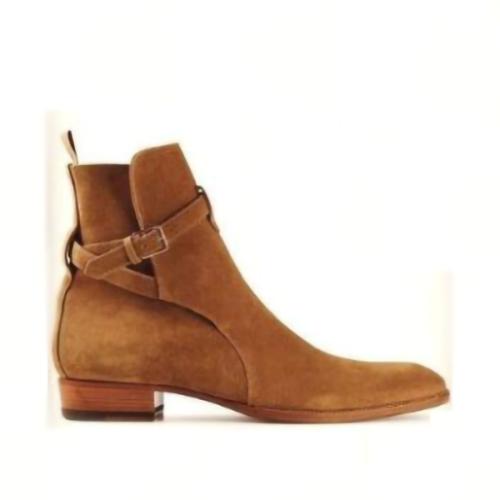 Men's Belt Buckle Suede Smooth Men's Boots