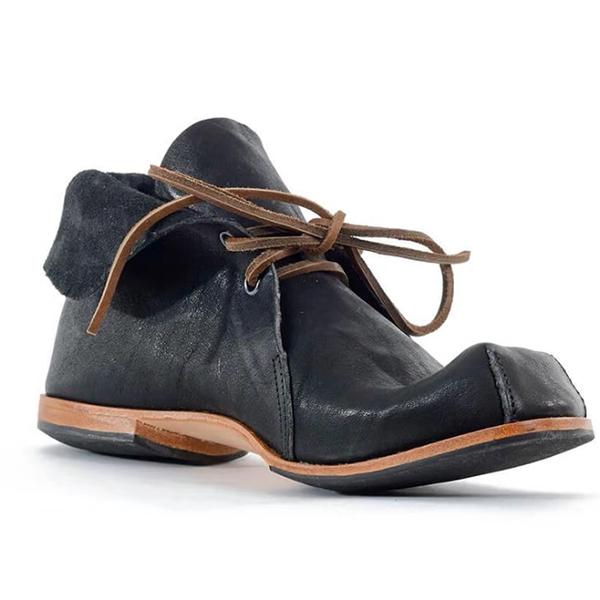 New Low-heel Lace-up Men's Short Boots