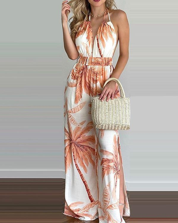 Women Summer Coconut Print Dress