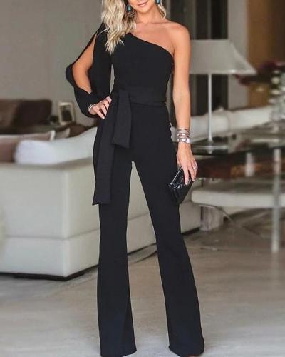 One-shoulder Party Fashionable Jumpsuit