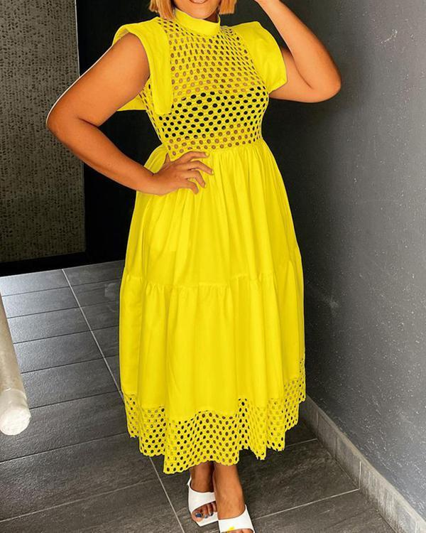 Summer Fashion Mesh A-line Dress