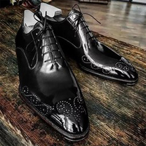 Men's Brock Shiny Lace-up Casual Leather Shoes