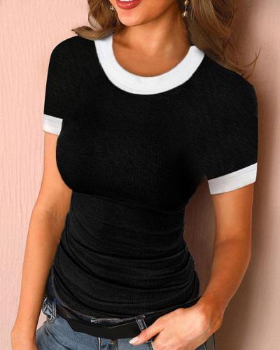Women Summer Short Sleeve Casual Top