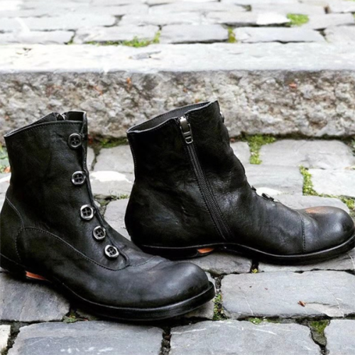 2021 New Fashion Trend Short Zipper Men's Boots