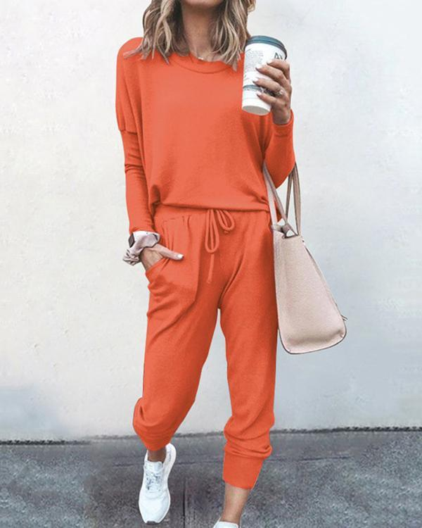 15 Colors 2 Piece Set Elegant Pants Suits Casual Outfits Jogger
