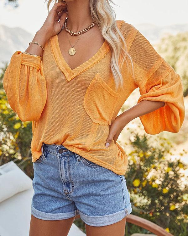 Women's Casual Oversize Solid Blouse