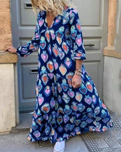 Loose Printed Women's Dress