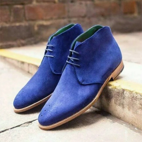 Trendy Low-heeled Suede Solid Color Men's Low-top Martin Boots