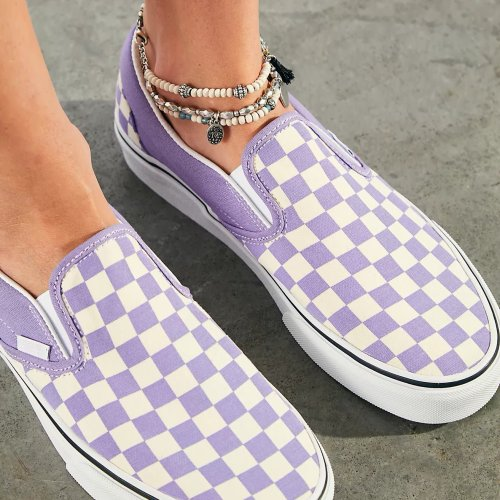 Classic Checkered Slip-On Shoes