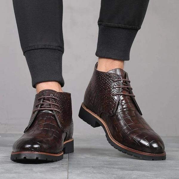 2021 New Low-heel Round Toe Men's Low-top Martin Boots