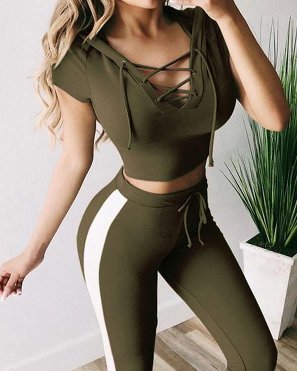 New Style Solid Color Sports And Leisure Suit