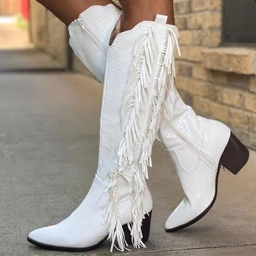 White Cowgirl Boots