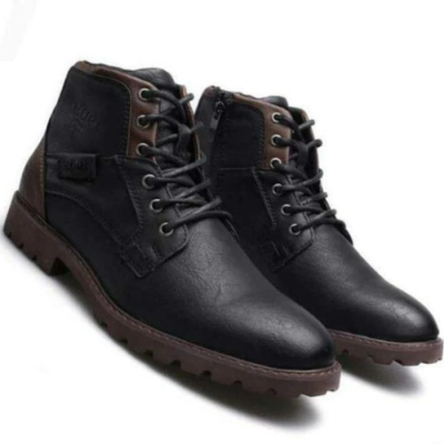 2021 Fashion Trend Low-heel Square Heel Men's Lace-up Low-top Martin Boots