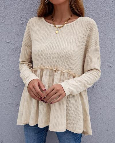 Casual Long-sleeve Women's Blouse Sweater