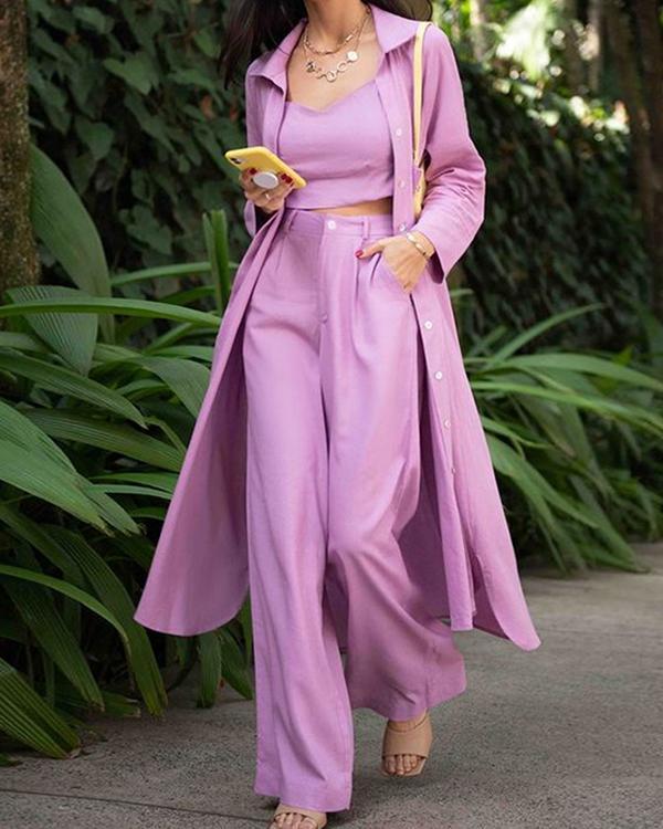 Casual Women's Three-piece Suit