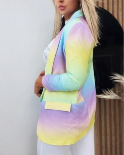 Women's Blazers Tie-Dye OL Temperament Slim Blazers