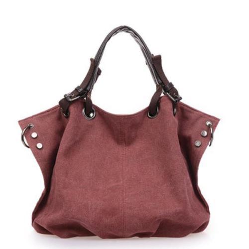 Outdoor Casual Canvas Large Capacity Shoulder Bag  Handbag