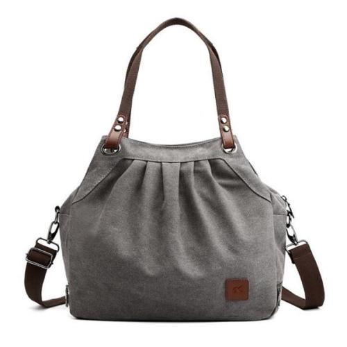 KVKY Women Canvas Tote Bag Casual Vintage  Large Capacity Handbag