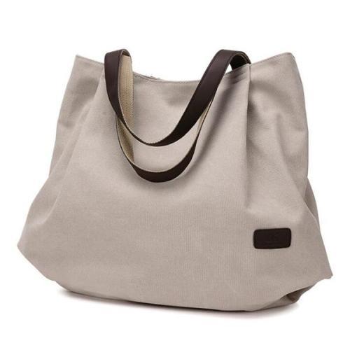 KVKY Women  Large Capacity Canvas Tote Bag Casual Vintage  Handbag