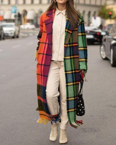 Printed Long-sleeved Hooded Jacket