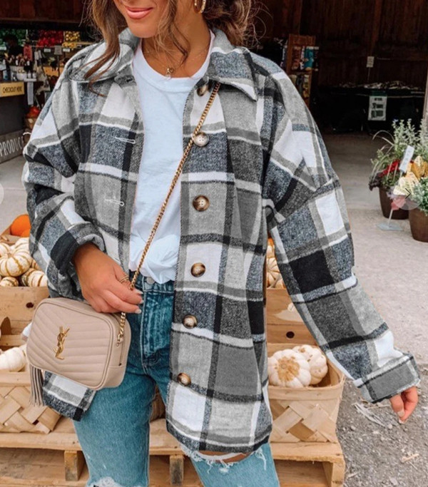 Printed Casual Loose Vintage Outerwear