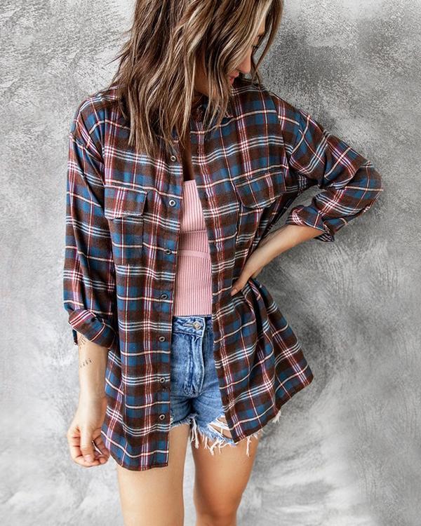 Women's Fashion Plaid Jacket
